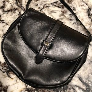 Vintage Christian Dior Black Crossbody Purse